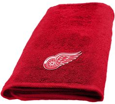 Detroit Red Wings Applique Hand Towel dimensions are 15 x 26 inches - $16.95
