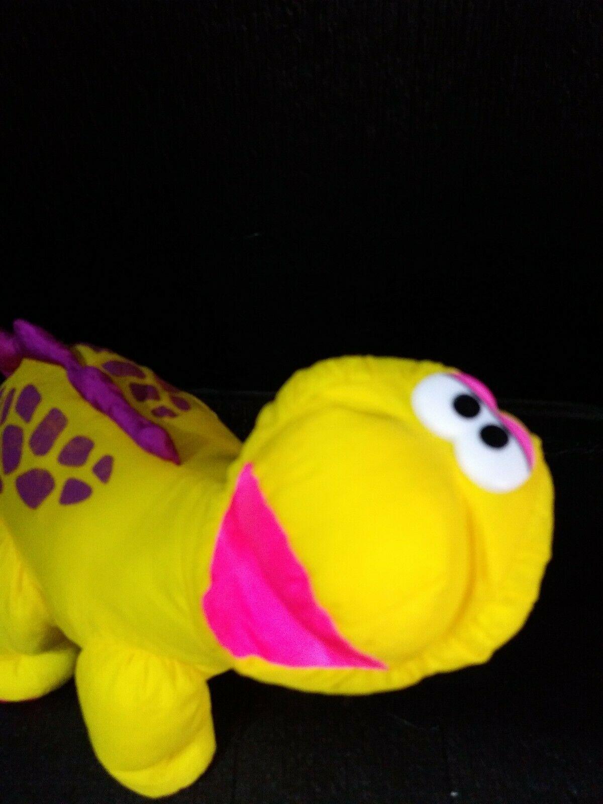 Vintage 1992 Fisher Price Puffalump Dino Roar Brontosaurus Dinosaur Plush Toy