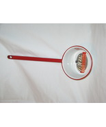 Federal (VOGUE) Red on White Enameled Ware long handeled dipper. BRAND NEW - $12.49