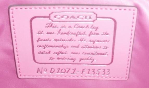 COACH Signature Stripe Frame Carryall NWT 13533