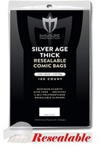 (200) Max Pro Silver Age THICK Resealable Comic Book BAGS - Ultra Clear ... - $17.99