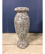 Plumb Rose Granite Vase Monument Cemetery Gravestone Memorial Flower 10x4-G - $79.98