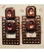 Vintage OOAK Artisan Handmade Clip-On Earrings - $15.99