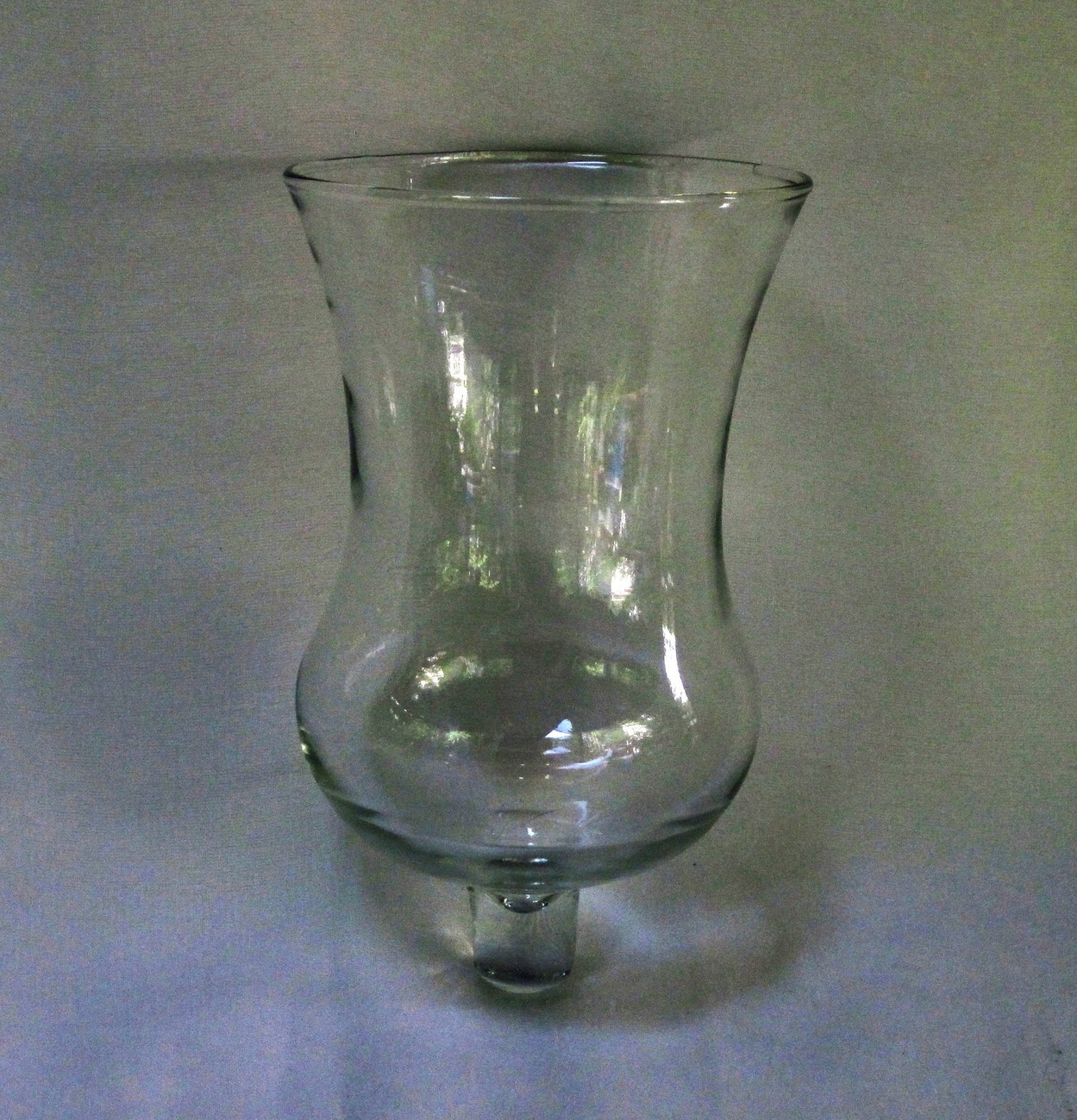 Pegged Votive Holder Glass Tall Flared Trumpet Clear