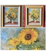 "Monet Sunflowers Art Print Framed 11 1/2 w X 13""H - $22.00"