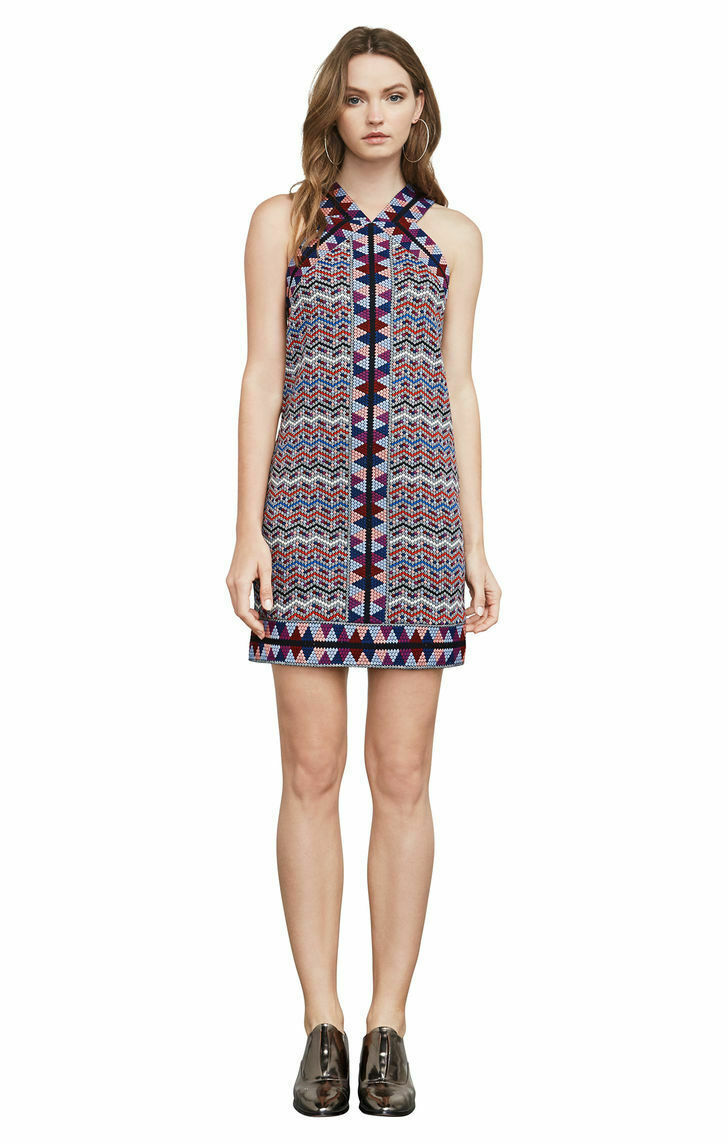 Primary image for BCBG Max Azria Tesa Dress Large Women Jacquard Halter multicolor