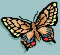 Latch Hook Rug Pattern Chart: Swallowtail - EMAIL2u - $5.75