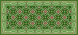 Latch Hook Rug Pattern Chart: Celtic Green - EMAIL2u - $5.75