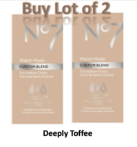 No7 Toffee Match Made Custom Blend Foundation Drops 15ml Lot of 2 New  - $12.59
