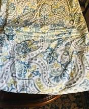 Pottery Barn Jessie Duvet Cover Set Blue Queen 2 Standard Sham Scroll Bo... - $129.00