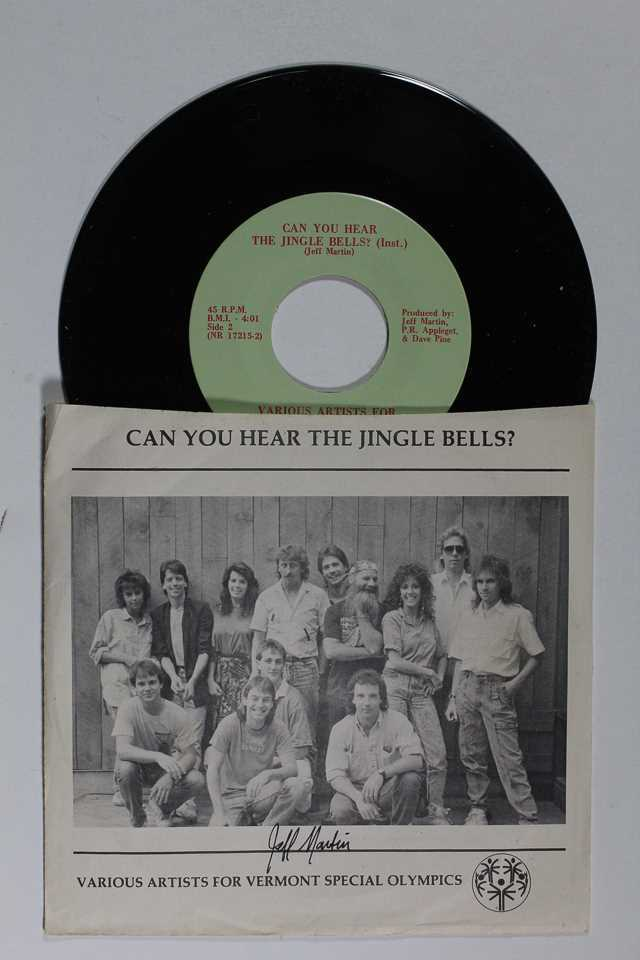"Primary image for Jeff Martin Signed Autographed ""Can You Hear the Jingle Bells"" 45 rpm Record Alb"