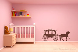 Girls Fairytale Horse and Carriage Vinyl Wall Art - $22.95