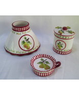 Candle Shade and Holder 4 pc set Gingham Check ... - $9.99