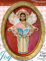 Joy Spirit Angel Ornament chart only cross stitch chart Brooke's Books - $5.40