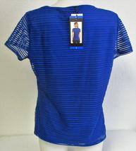 Calvin Klein Women's Stretch Textured Shirt- Regatta (Blue) Size: Large image 2