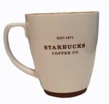 Starbucks Mug  EST 1971 Coffee Co 18 oz. Ceramic Cup With Brown Trim - $20.85