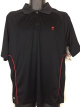 Fila Sport Performance Short Sleeve Black Golf Polo Shirt Men's Size M-NWT - $12.95