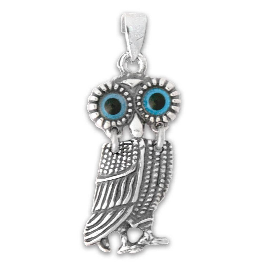 0026 goddess athena silver wise owl pendant culturetaste 8