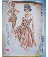McCall's 6188 Slim Or Full Skirt Dress Pattern 14/34 @ 1961 - $5.99
