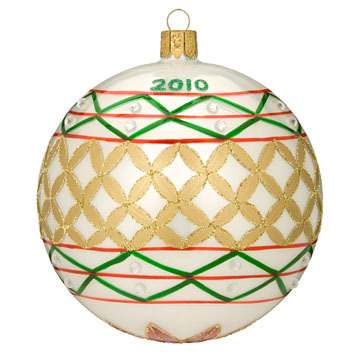 Primary image for Waterford's 2010 Annual Dated Holiday Heirloom Ball Ornament 8379926
