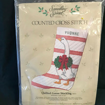 Something Special Quilted Goose Stocking 50173 Counted Cross Stitch NIP - $18.99