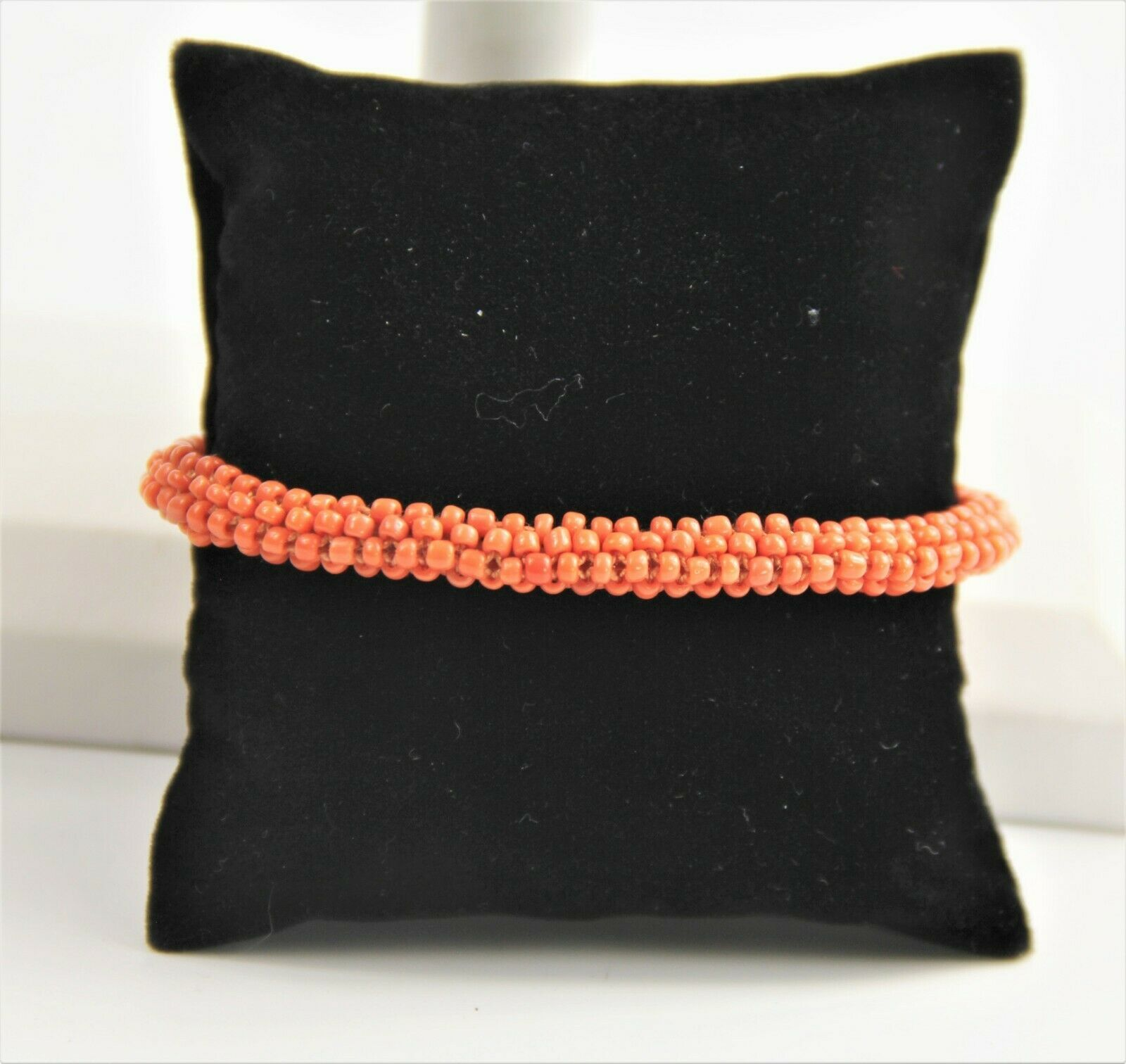ANTIQUE ESTATE Jewelry VICTORIAN ERA WOVEN NATURAL CORAL BRACELET WITH APPRAISAL