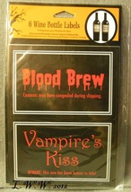 6 Halloween Wine Potion Bottle Labels Blood Vampire Love Potion Truth Serum  - $4.99