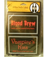 6 Halloween Wine Potion Bottle Labels Blood Vampire Love Potion Truth Se... - $4.99