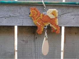 Finnish Spitz dog crate tag or home decor, hang it anywhere, handmade by... - $18.00