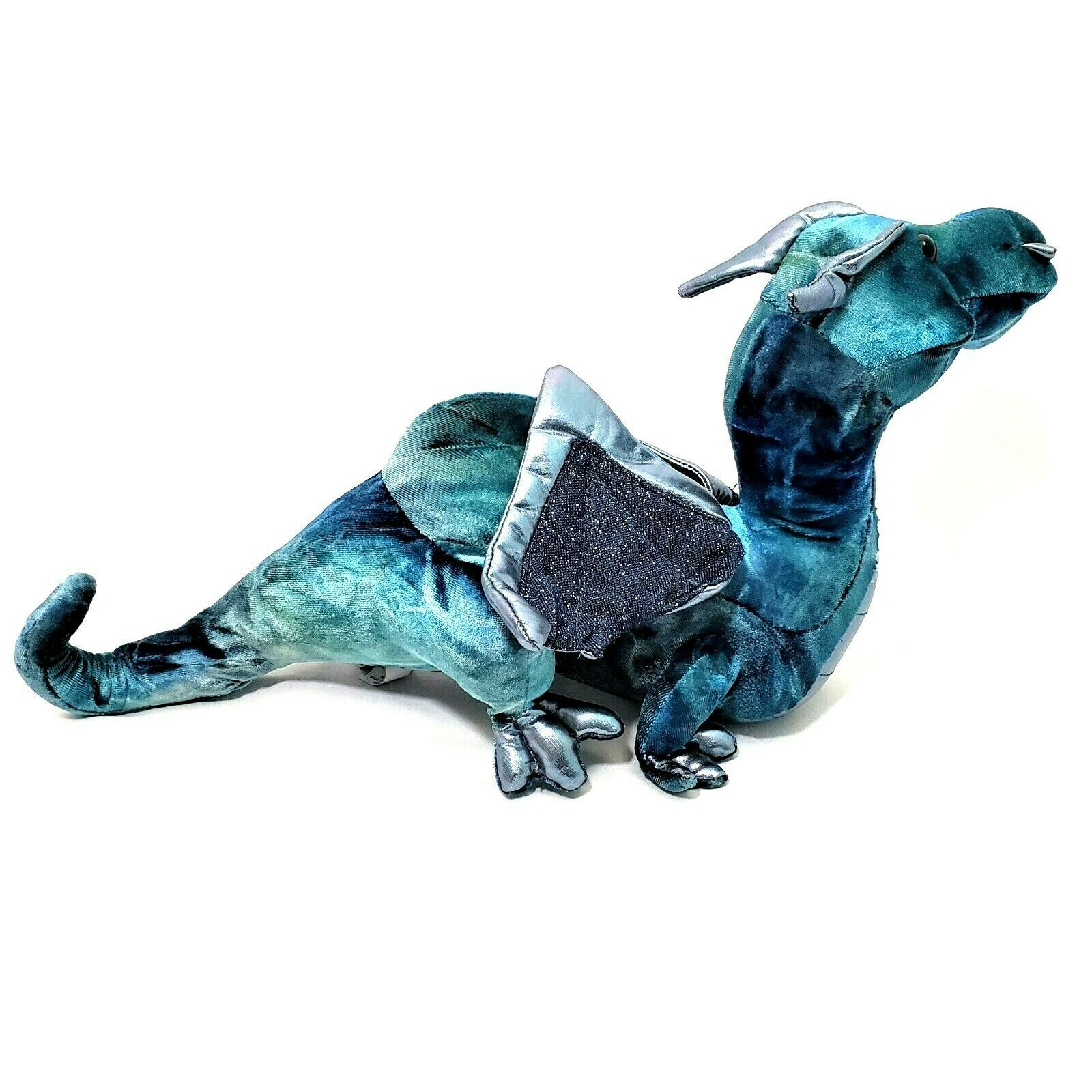 Douglas Cuddle Toy Jade Blue Dragon Plush Stuffed 729 image 4