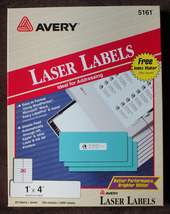 Avery 5161 Laser Labels - $15.00