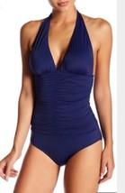 NWT Women's Tart Swim One Piece Swimsuit, Navy Blue, Size L - $45.49