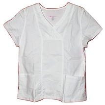 Los Angeles Rose Women's Stretchology 3 Pkt. Scrub Top White XL -  NWT - $24.99