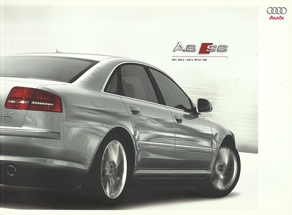 2009 Audi A8 S8 sales brochure catalog US 09 A8L L W12