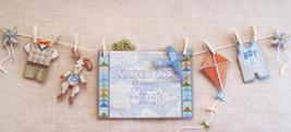 Spring Baby Boy Sunshine Lane Birth Sampler Chart only cross stitch Broo... - $7.20