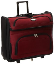 Rolling Garment Bag Dress Carrier Business Travel Wheeled Luggage Suit R... - $73.72