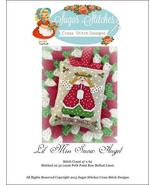 Lil' Miss Snow Angel christmas cross stitch cha... - $6.00