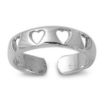 925 Sterling Silver White Gold Plated Women's Heart Design Adjustable To... - $9.99