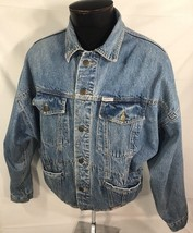 VTG Guess Jeans USA Denim Jacket Georges Marciano Coat Bomber Hip Hop AS... - $80.99