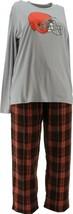 NFL Men's Pajama Set Long Slv Top Flannel Pants Browns XXXXL NEW A387683 - $30.67