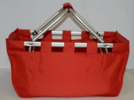 WB Brand MarketRed Large Collapsible Red Market Tote image 1