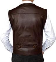 Chris Pratt Jurassic World Fallen Kingdom Owen Grady Leather Vest image 2