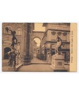 c1910 - Florence, Italy - Interior of the Loggia de 'Lanzi - Unused  - $4.99