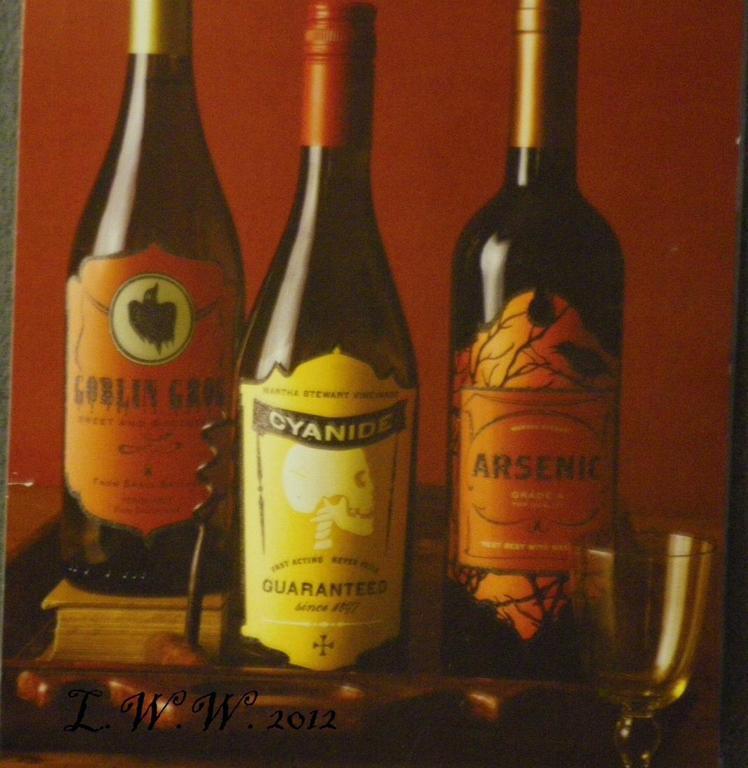 6 Martha Stewart Halloween Beverage Wine Potion Bottle Labels Goblin Arsenic image 2