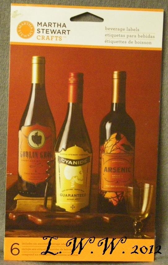 6 Martha Stewart Halloween Beverage Wine Potion Bottle Labels Goblin Arsenic