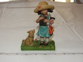Sweet Memories 50031 2003 Cloudworks Girl with Bible and Her Dog  ~ - $27.22