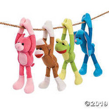 Fun Express Plush Long Arm Sock Monkey & Friends - $24.24