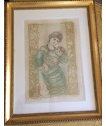 EDNA HIBEL stunning Mother & Child ARTIST'S PROOF SIGNED PRINT double ma... - $233.40