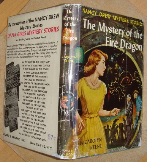 Nancy Drew 38 The Mystery of the Fire Dragon 1962C-3 LAST dust jacket printing!