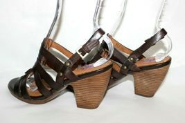 ✿ INDIGO by Clarks Woven Strappy Slingback Heeled Sandals 8 M EXCELLENT! L@@K!26 image 3